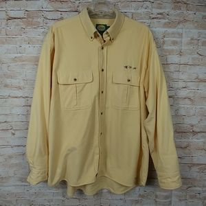 Cabela's 100% cotton Yellow shirt Long slv XL